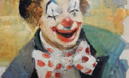 really-old-painting-oil-circus-clown-signed-werner-clown-art